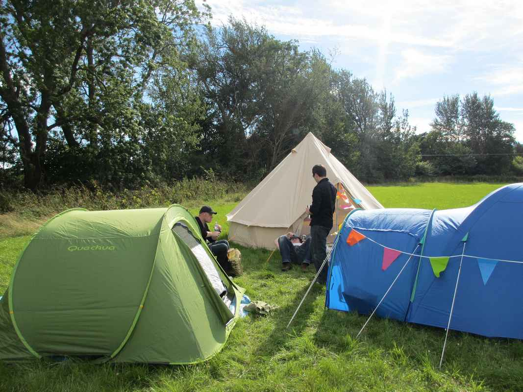 Faire du camping pendant les vacances